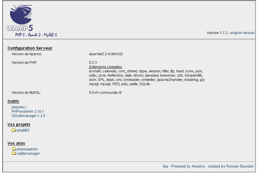 module d'installation phpbb 3 forums